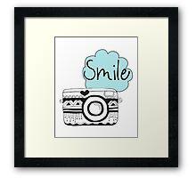 Vintage Retro Camera Smile Framed Print
