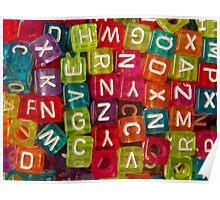 Bright Alphabet Cubes Poster