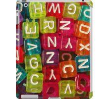 Bright Alphabet Cubes iPad Case/Skin