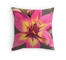 Photoshop lily pink Throw Pillow