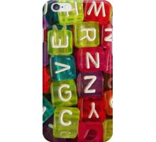 Bright Alphabet Cubes iPhone Case/Skin
