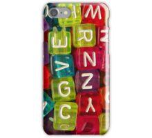 Bright Alphabet Cubes iPhone Case/Skin