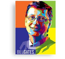 Bill Gates | PolygonART Canvas Print