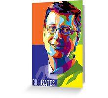 Bill Gates | PolygonART Greeting Card