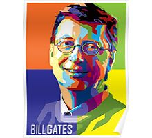 Bill Gates | PolygonART Poster