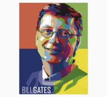 Bill Gates | PolygonART Kids Tee