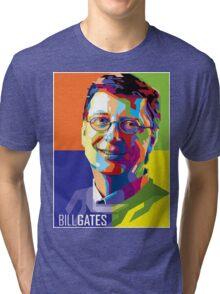 Bill Gates   PolygonART Tri-blend T-Shirt
