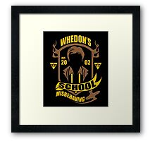School of Misbehaving Framed Print