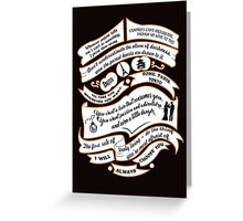 TVD Quotes. The Vampire Diaries. Greeting Card