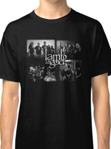 LAMB OF GOD black waite color Classic T-Shirt