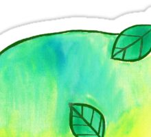 Leaf Dinosaur Watercolor Sticker