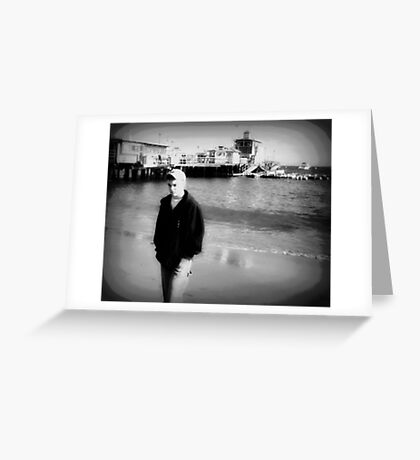 Melancholy on the Beach Greeting Card