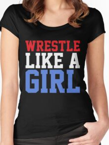 WRESTLE LIKE A GIRL Women's Fitted Scoop T-Shirt