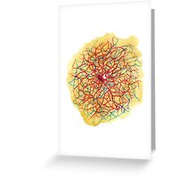Tangled neuron watercolor Greeting Card