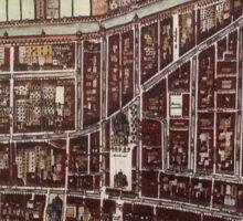 Replica city map of Delft from 1649  Sticker