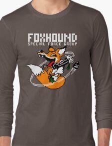 FOXHOUND PIXELART FOX WHITE Long Sleeve T-Shirt