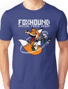 FOXHOUND PIXELART FOX WHITE Unisex T-Shirt