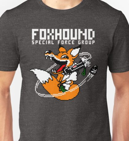 FOXHOUND PIXELART FOX WHITE Unisex T-Shirt