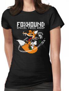 FOXHOUND PIXELART FOX WHITE Womens Fitted T-Shirt