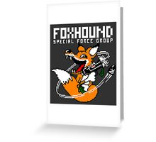 FOXHOUND PIXELART FOX WHITE Greeting Card