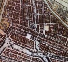 Replica city map Rotterdam 1652 Sticker