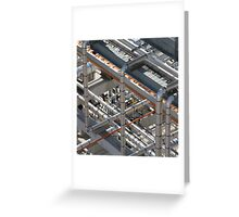Art of industry Abstract  Greeting Card