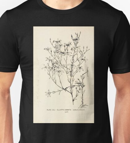 Southern wild flowers and trees together with shrubs vines Alice Lounsberry 1901 140 Elliott's Sabbatia Unisex T-Shirt