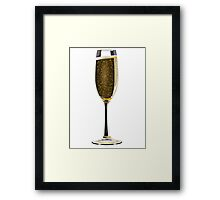 champagne glass Framed Print