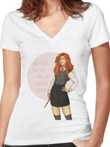 Ginny Women's Fitted V-Neck T-Shirt