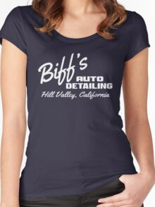 Back To The Future - Biff's Auto Detailing Women's Fitted Scoop T-Shirt