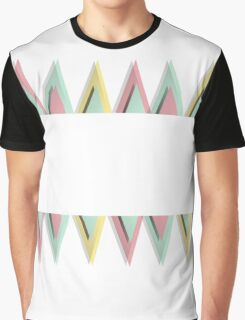 Vector geometric background. Colorful triangles theme Graphic T-Shirt