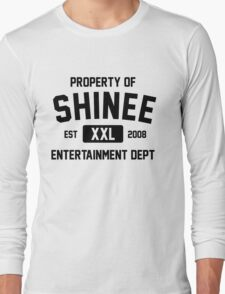 Property of SHINee (Black Ver) Long Sleeve T-Shirt