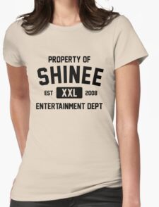 Property of SHINee (Black Ver) Womens Fitted T-Shirt