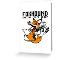 FOXHOUND PIXELART FOX BLACK Greeting Card