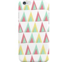 Vector geometric background. Colorful triangles theme iPhone Case/Skin