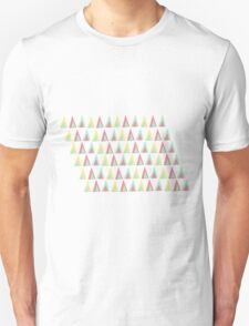 Vector geometric background. Colorful triangles theme Unisex T-Shirt