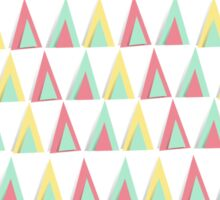 Vector geometric background. Colorful triangles theme Sticker