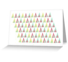 Vector geometric background. Colorful triangles theme Greeting Card