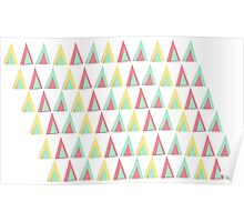Vector geometric background. Colorful triangles theme Poster