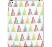 Vector geometric background. Colorful triangles theme iPad Case/Skin