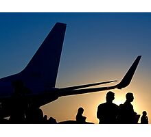 Airline Passengers Disembarking After A Long Flight  Photographic Print