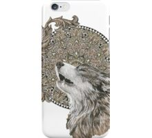 Mandala wolf iPhone Case/Skin