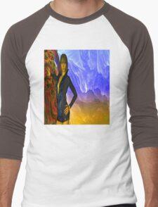 Magical Cave Men's Baseball ¾ T-Shirt