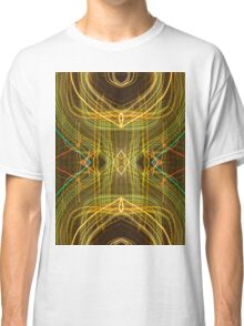 Gold Neon pattern spiral light painting abstract photography Classic T-Shirt