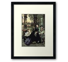 Vintage famous art - James Tissot - The Widow Framed Print