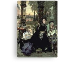 Vintage famous art - James Tissot - The Widow Canvas Print