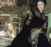 Vintage famous art - James Tissot - The Widow Sticker
