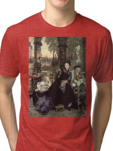Vintage famous art - James Tissot - The Widow Tri-blend T-Shirt