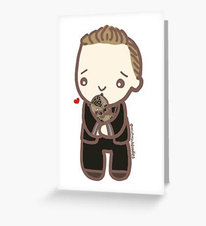 Tom Hiddleston & Baby Leopard Greeting Card