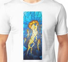 Jellyfish stained glass effect Unisex T-Shirt